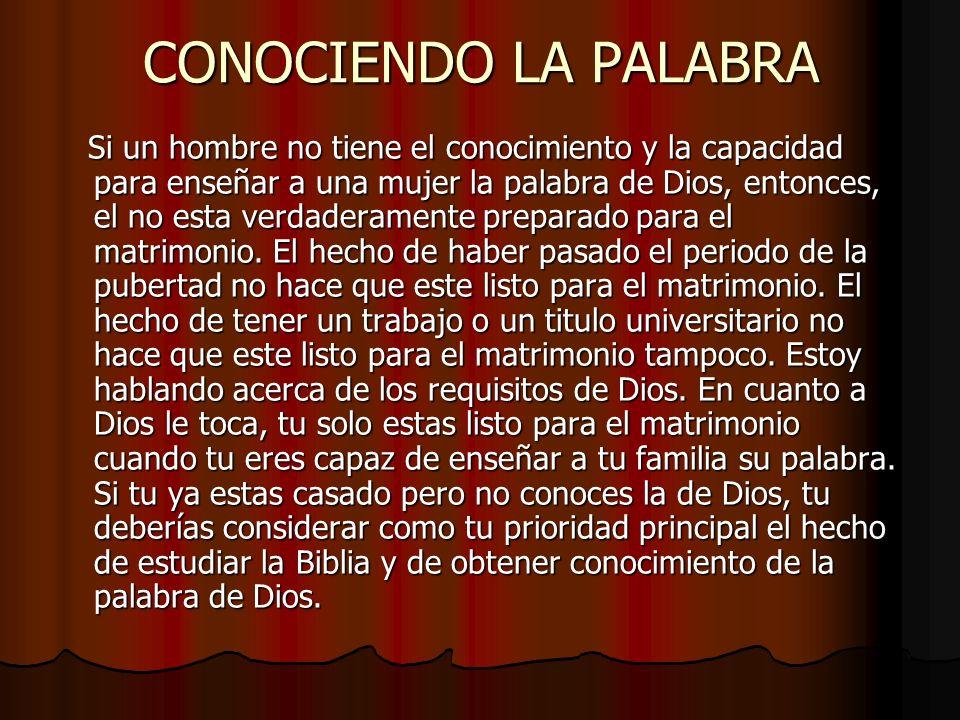 CONOCIENDO LA PALABRA