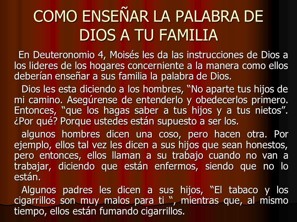 COMO ENSEÑAR LA PALABRA DE DIOS A TU FAMILIA