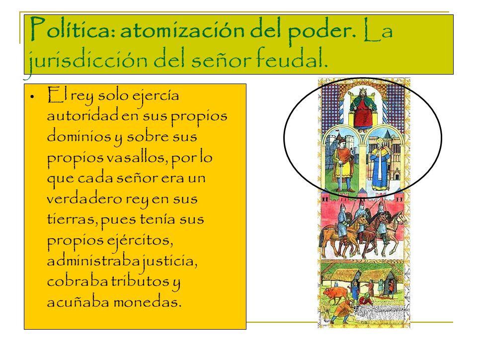 Política: atomización del poder. La jurisdicción del señor feudal.