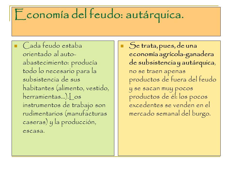 Economía del feudo: autárquica.