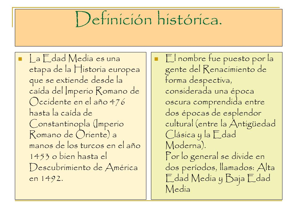 Definición histórica.