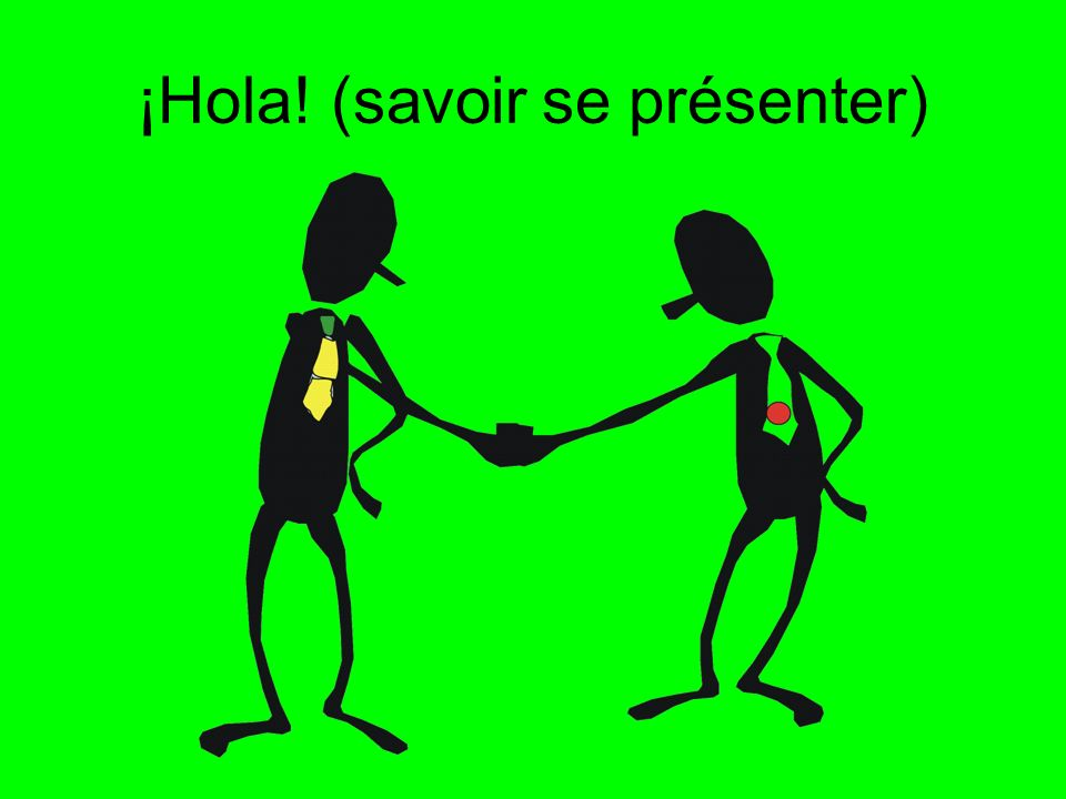 ¡Hola! (savoir se présenter)