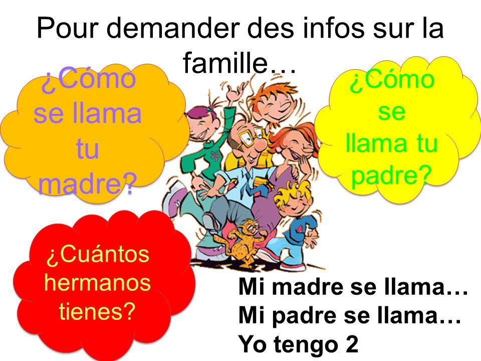 Pour demander des infos sur la famille…
