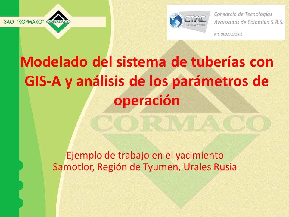 Modelado del sistema de tuberías con GIS-A y análisis de los parámetros de operación