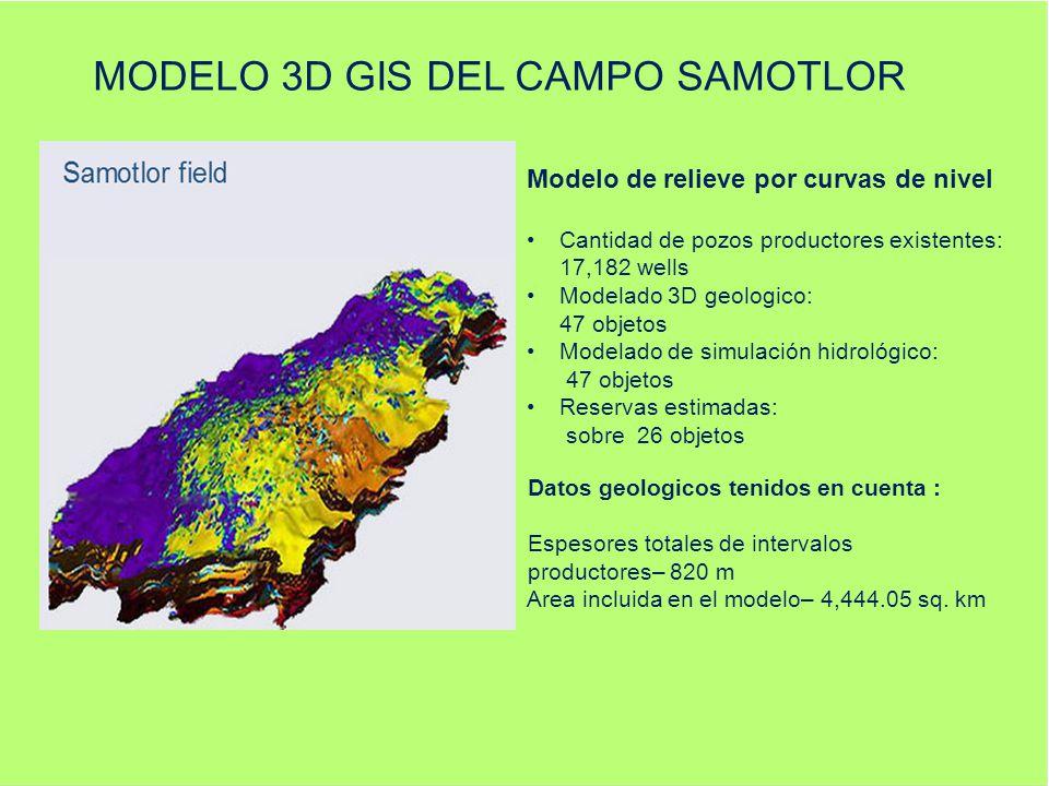 MODELO 3D GIS DEL CAMPO SAMOTLOR