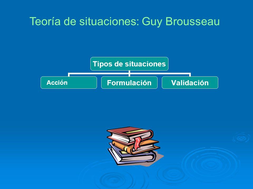 Teoría de situaciones: Guy Brousseau