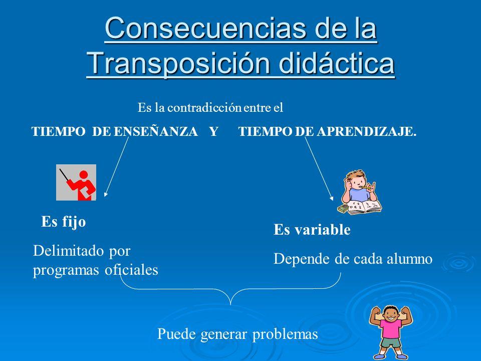 Consecuencias de la Transposición didáctica