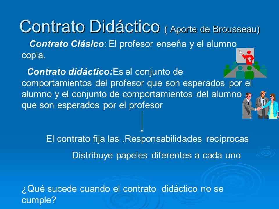 Contrato Didáctico ( Aporte de Brousseau)
