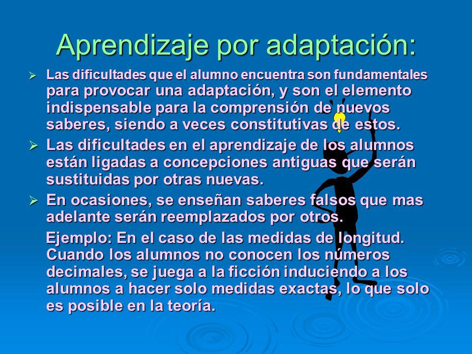 Aprendizaje por adaptación: