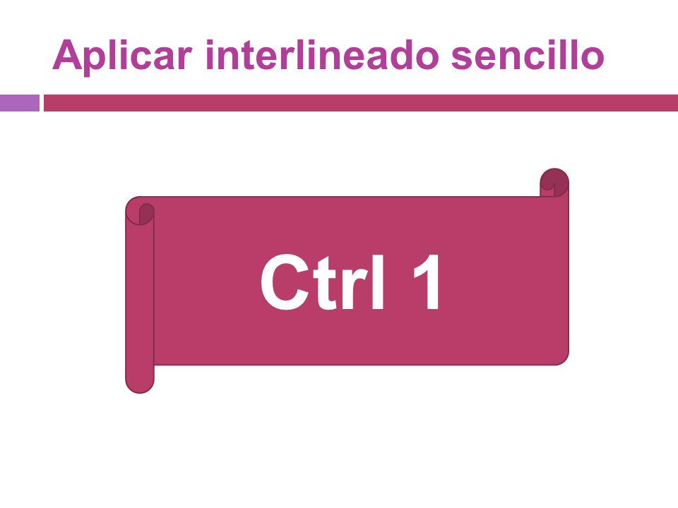 Aplicar interlineado sencillo