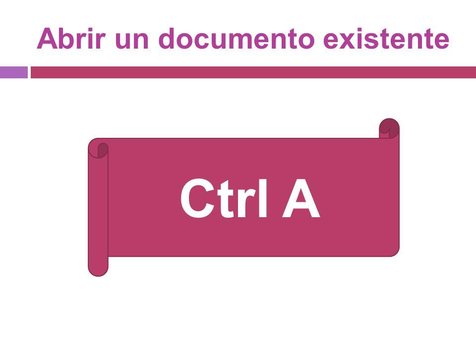 Abrir un documento existente