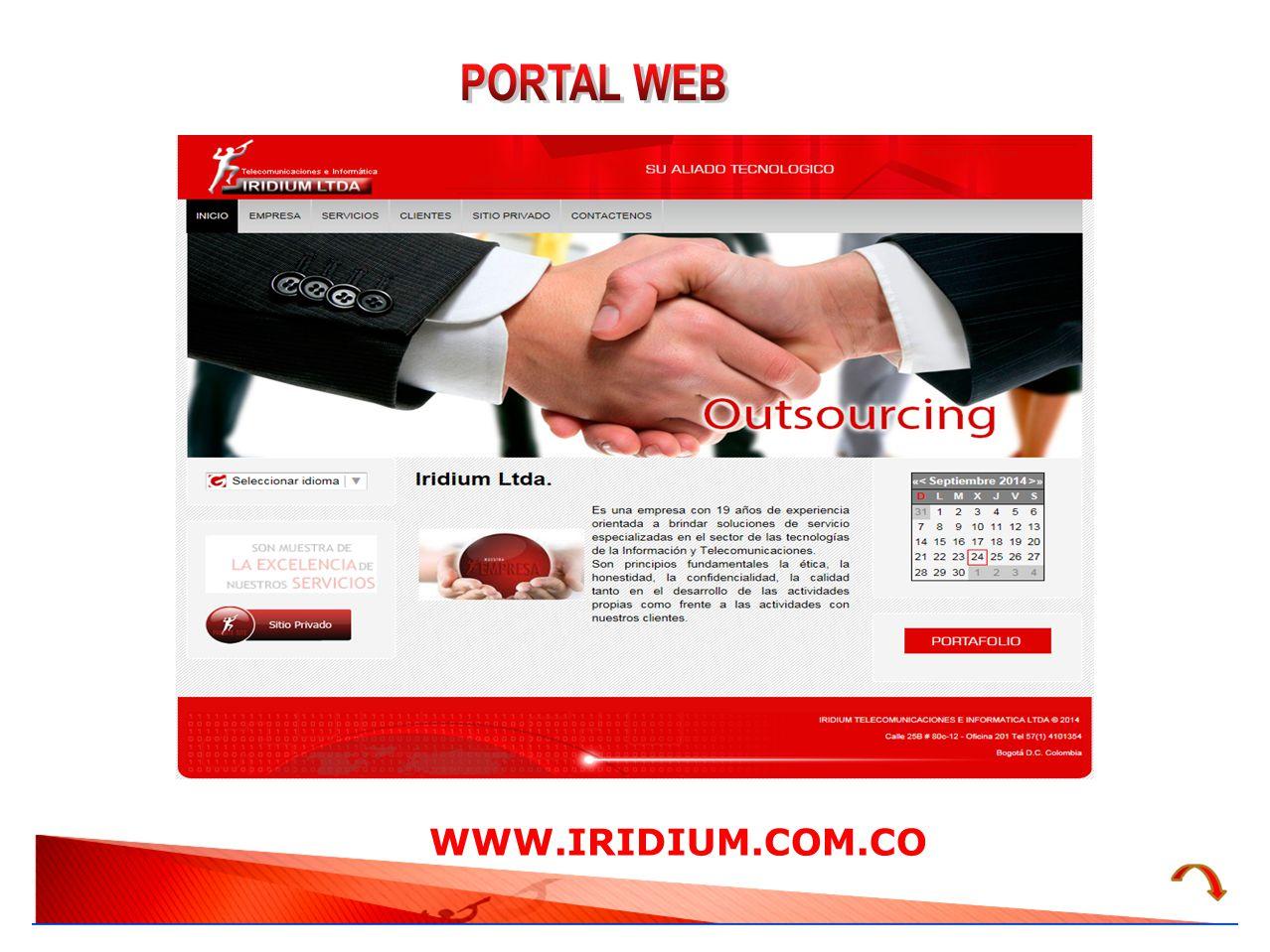 PORTAL WEB WWW.IRIDIUM.COM.CO