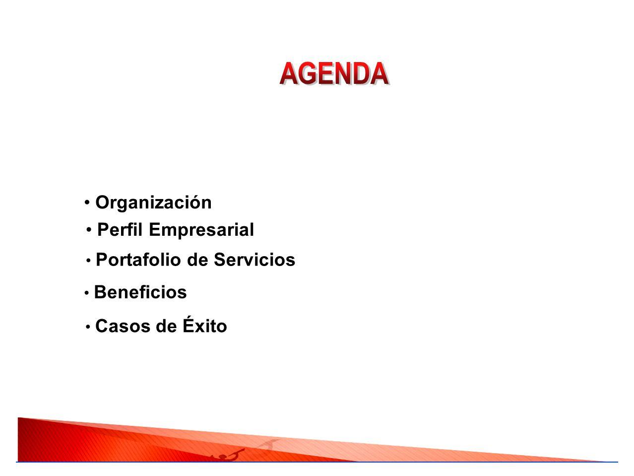 AGENDA Organización Perfil Empresarial Portafolio de Servicios