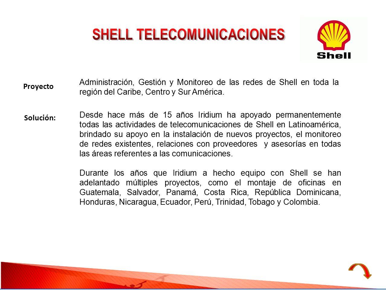 SHELL TELECOMUNICACIONES