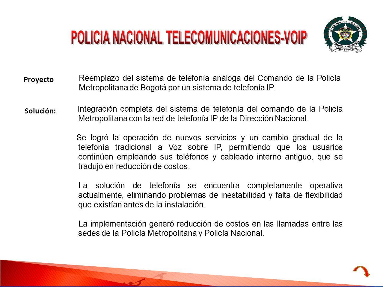 POLICIA NACIONAL TELECOMUNICACIONES-VOIP