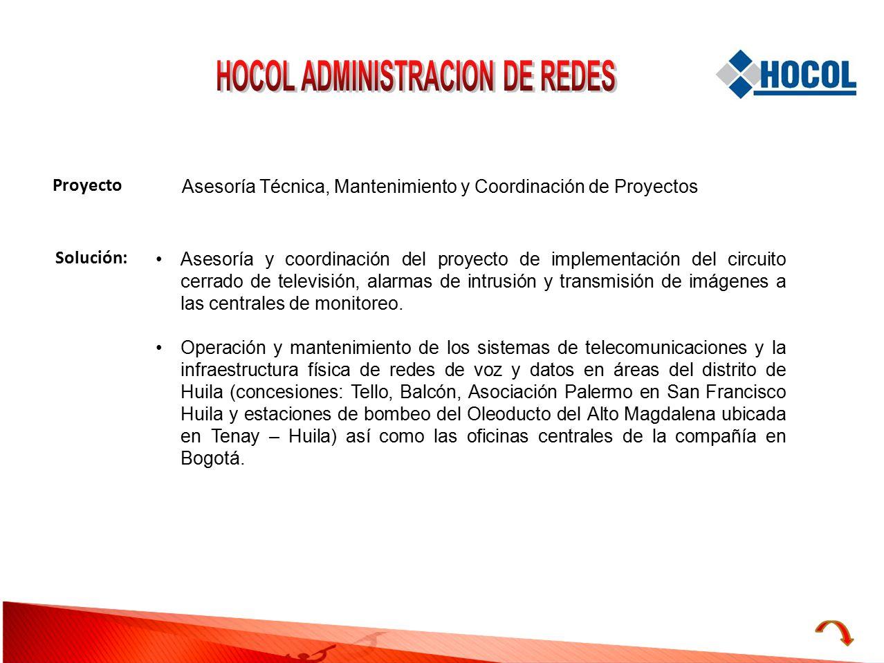 HOCOL ADMINISTRACION DE REDES