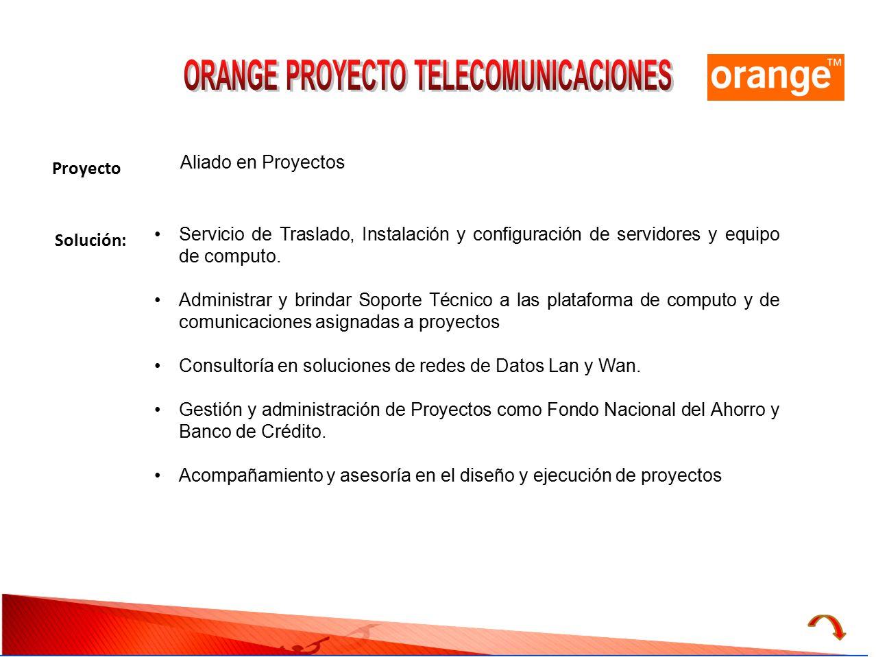 ORANGE PROYECTO TELECOMUNICACIONES