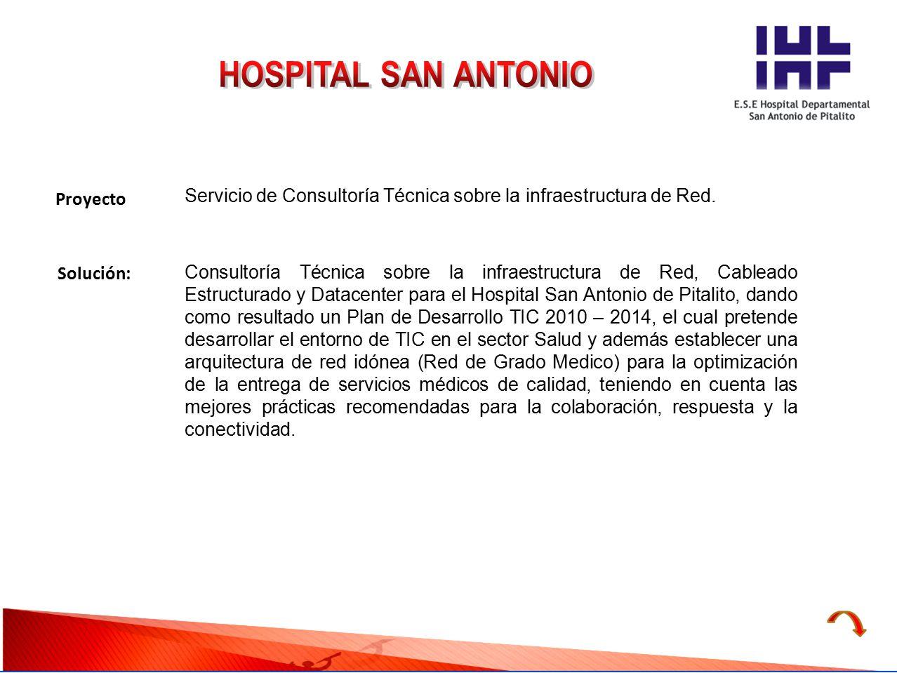HOSPITAL SAN ANTONIO Proyecto