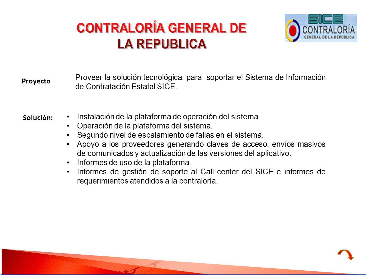 CONTRALORÍA GENERAL DE