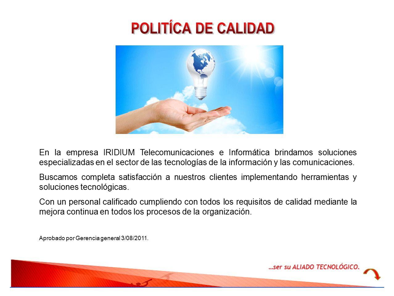 POLITÍCA DE CALIDAD