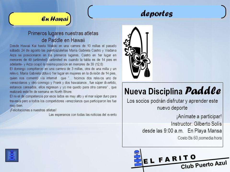Nueva Disciplina Paddle