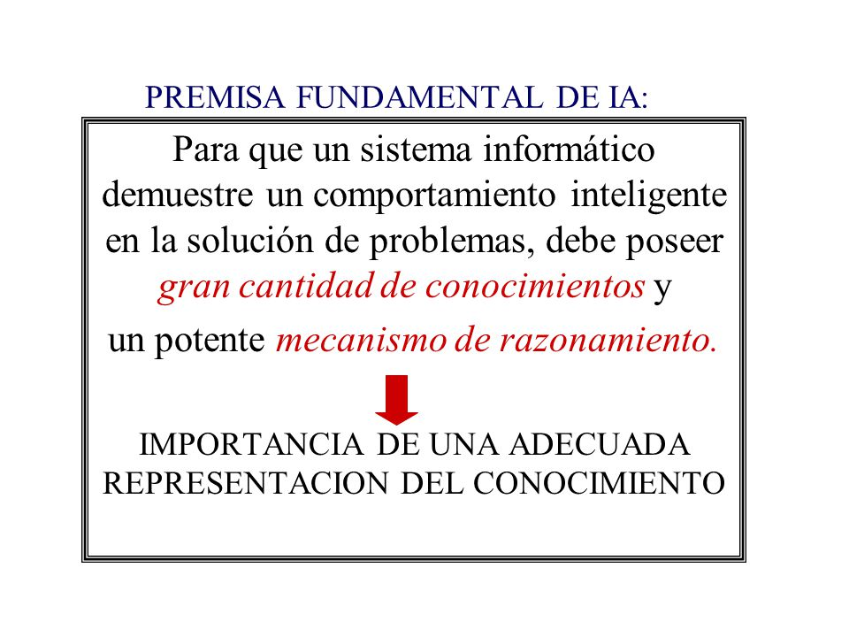 PREMISA FUNDAMENTAL DE IA: