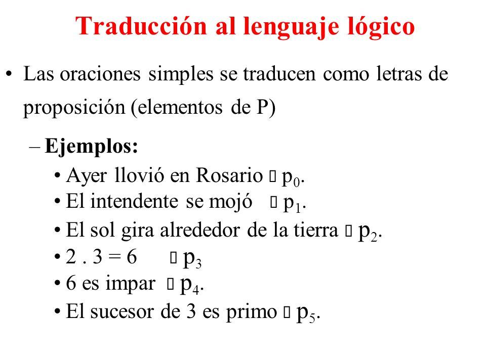 Traducción al lenguaje lógico