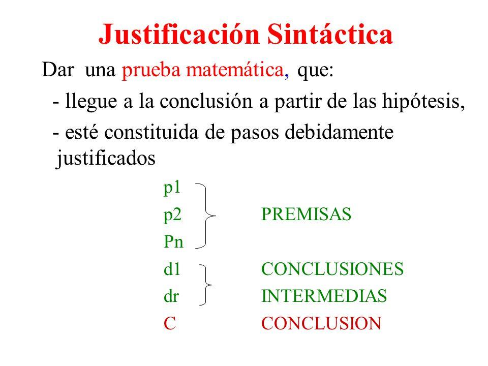 Justificación Sintáctica
