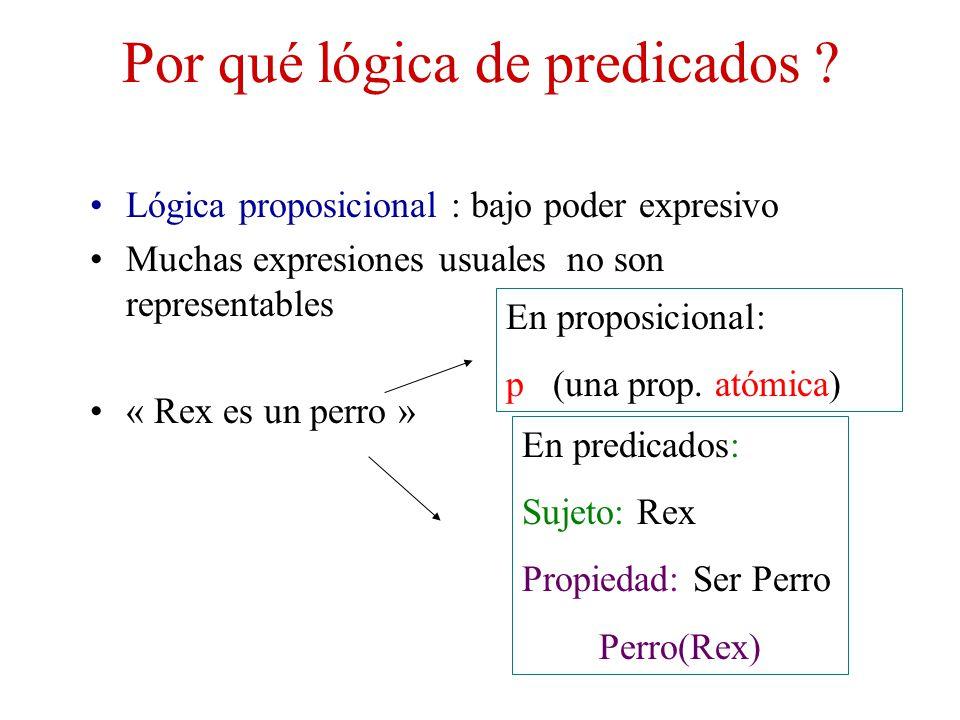 Por qué lógica de predicados