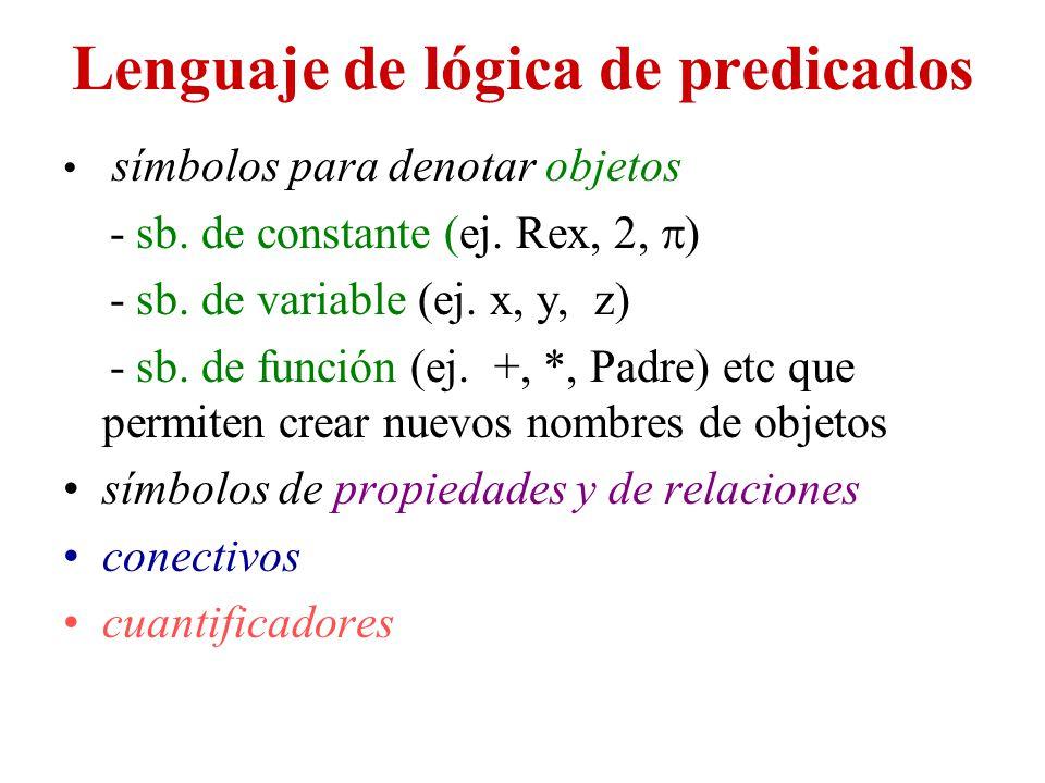 Lenguaje de lógica de predicados