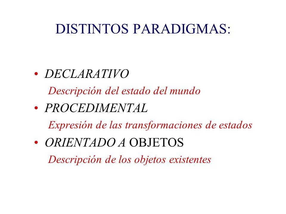 DISTINTOS PARADIGMAS: