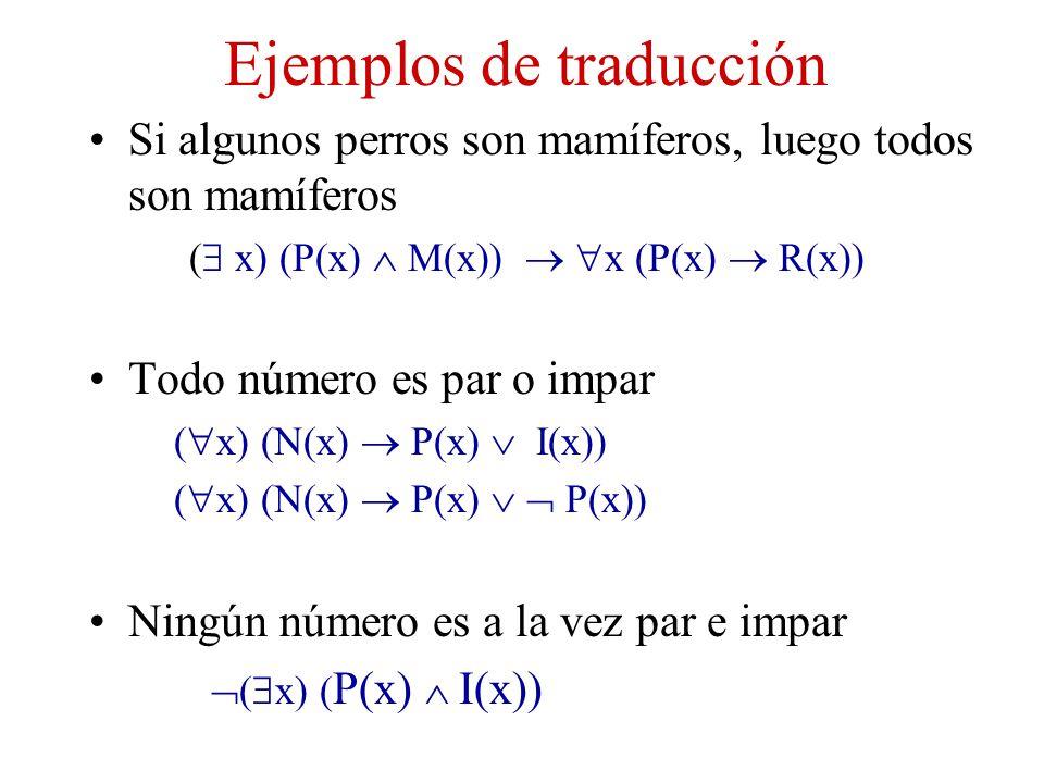 Ejemplos de traducción
