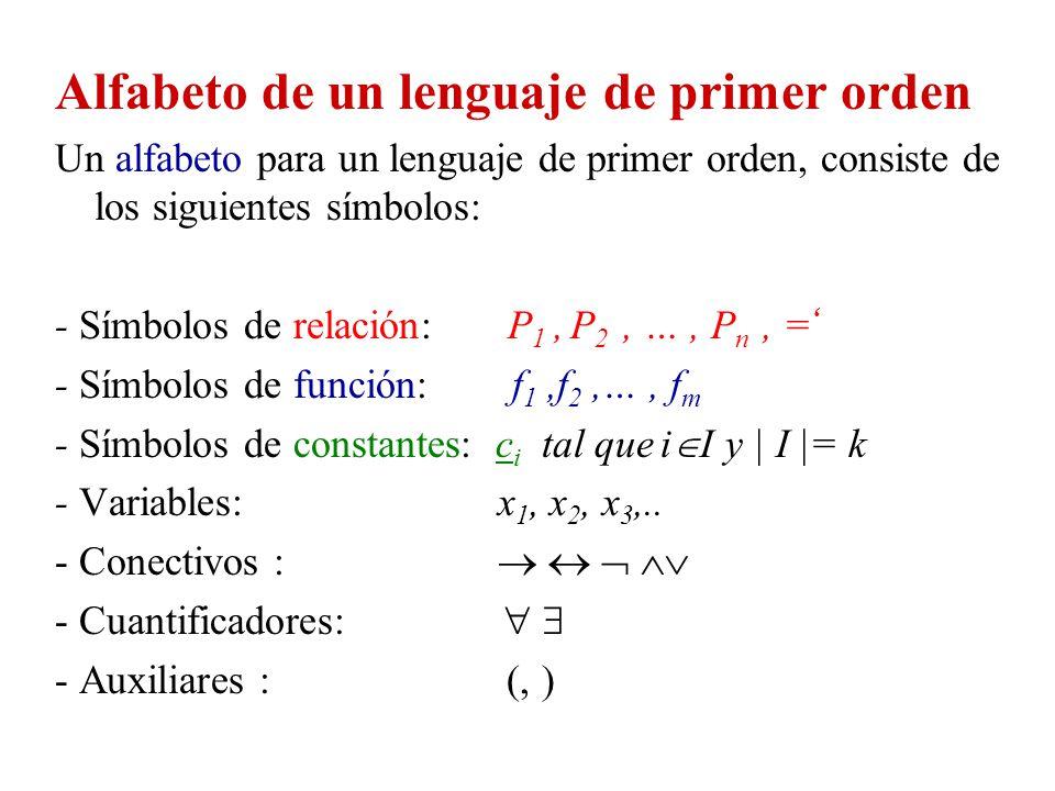 Alfabeto de un lenguaje de primer orden