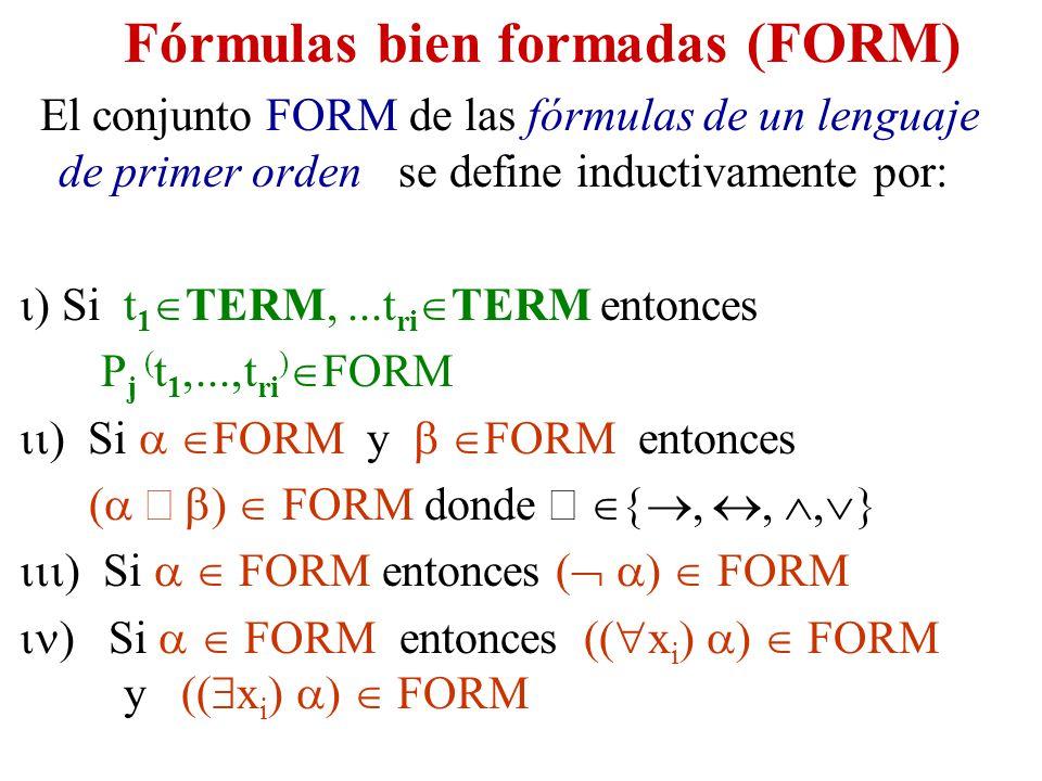 Fórmulas bien formadas (FORM)