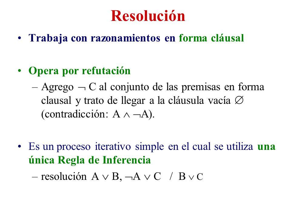 Resolución Trabaja con razonamientos en forma cláusal