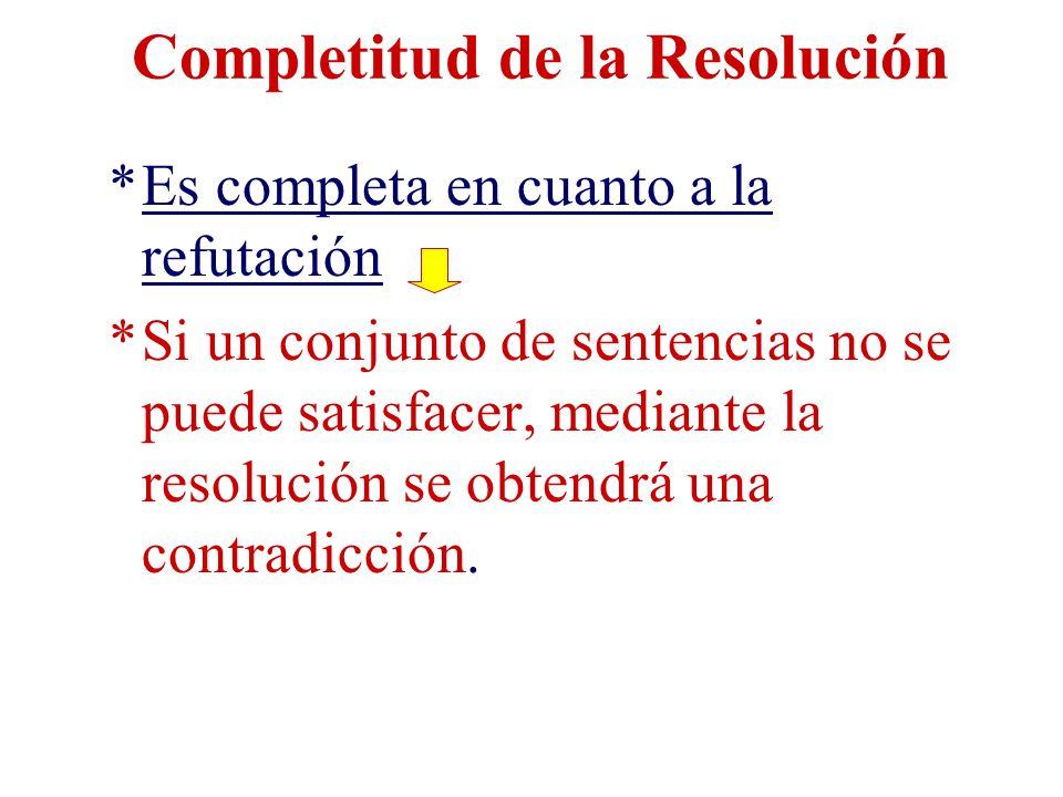 Completitud de la Resolución