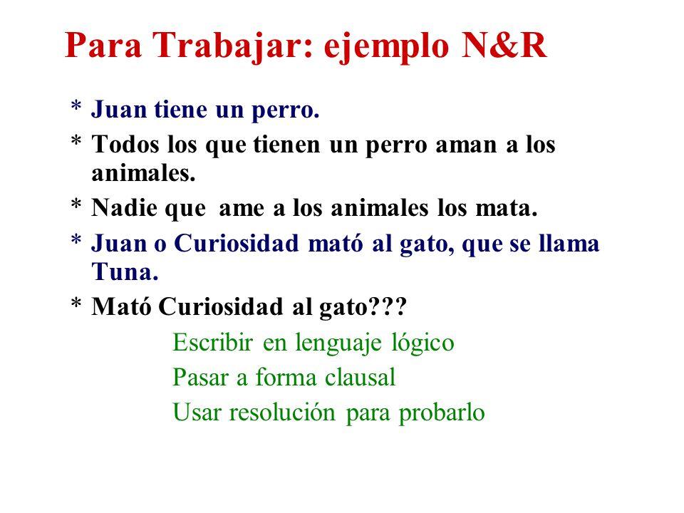 Para Trabajar: ejemplo N&R