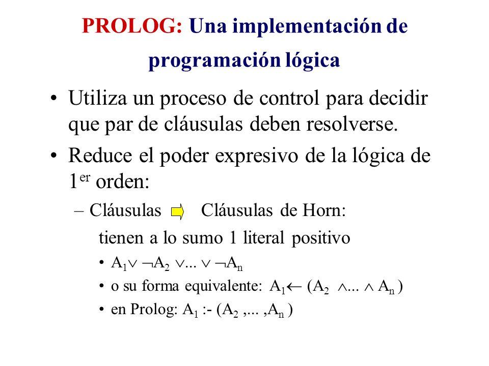 PROLOG: Una implementación de programación lógica