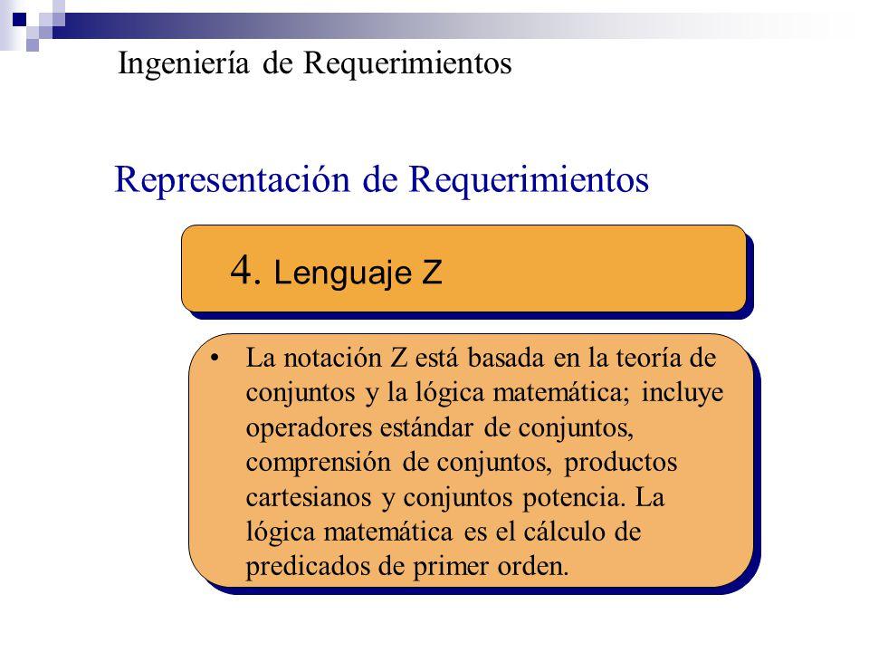 4. Lenguaje Z Representación de Requerimientos