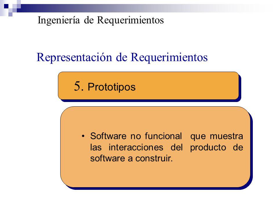 5. Prototipos Representación de Requerimientos