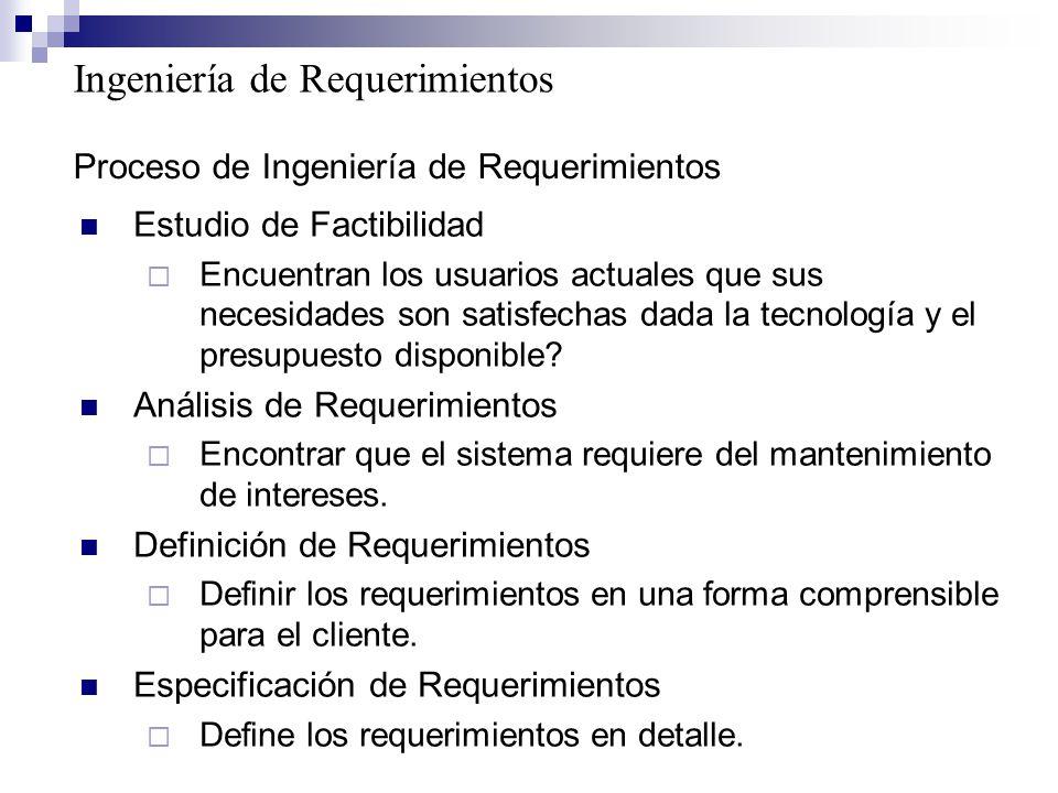 Proceso de Ingeniería de Requerimientos