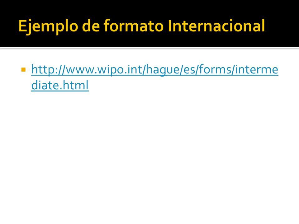 Ejemplo de formato Internacional