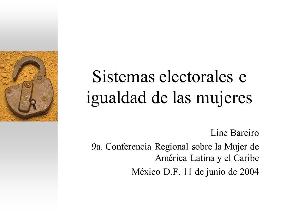 Sistemas electorales e igualdad de las mujeres