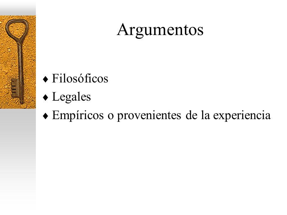 Argumentos Filosóficos Legales