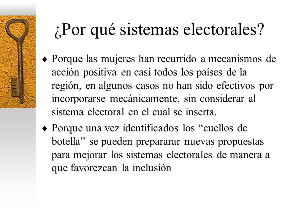 ¿Por qué sistemas electorales