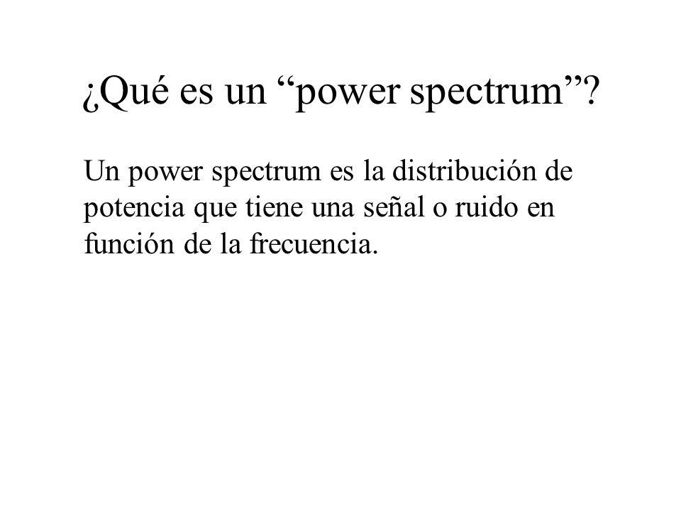 ¿Qué es un power spectrum
