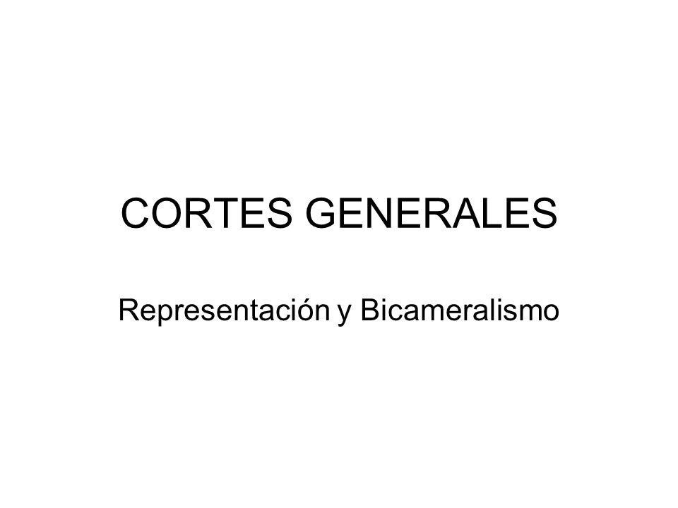 Representación y Bicameralismo