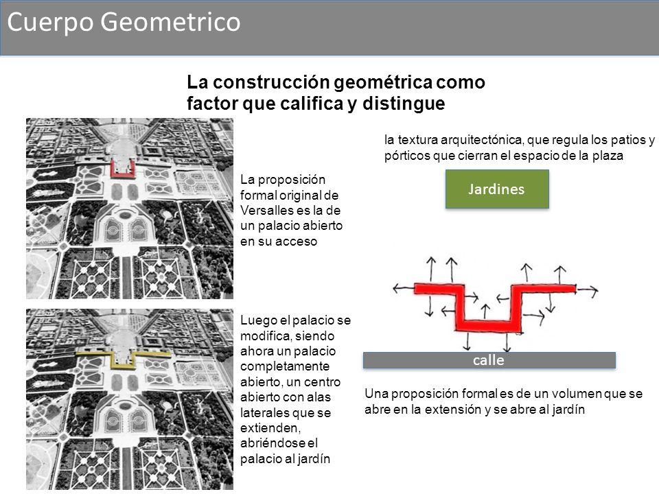 Cuerpo Geometrico La construcción geométrica como factor que califica y distingue.