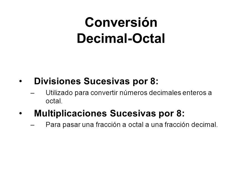 Conversión Decimal-Octal
