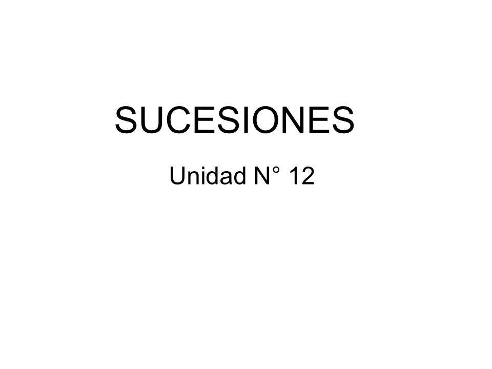 SUCESIONES Unidad N° 12